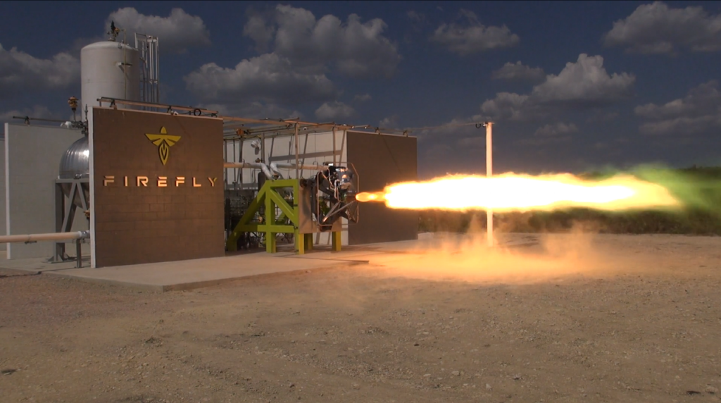 Firefly Space Systems test firing its LOX / RP-1 rocket at its Cedar Parks, Texas facility.