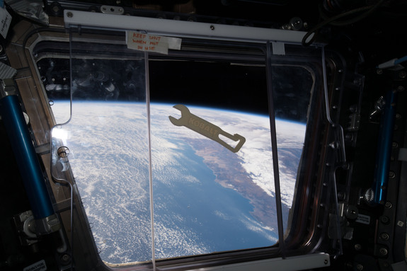 The first tool printed in space was by Made in Space in partnership with NASA and Lowe's in June 2016. Credit: NASA