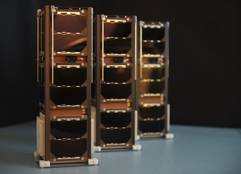 Sky and Space Global (SAS)'s initial three 3U CubeSats called Diamonds built by GOMSpace launched to equatorial orbit in June 2017. Credit: Sky and Space Global