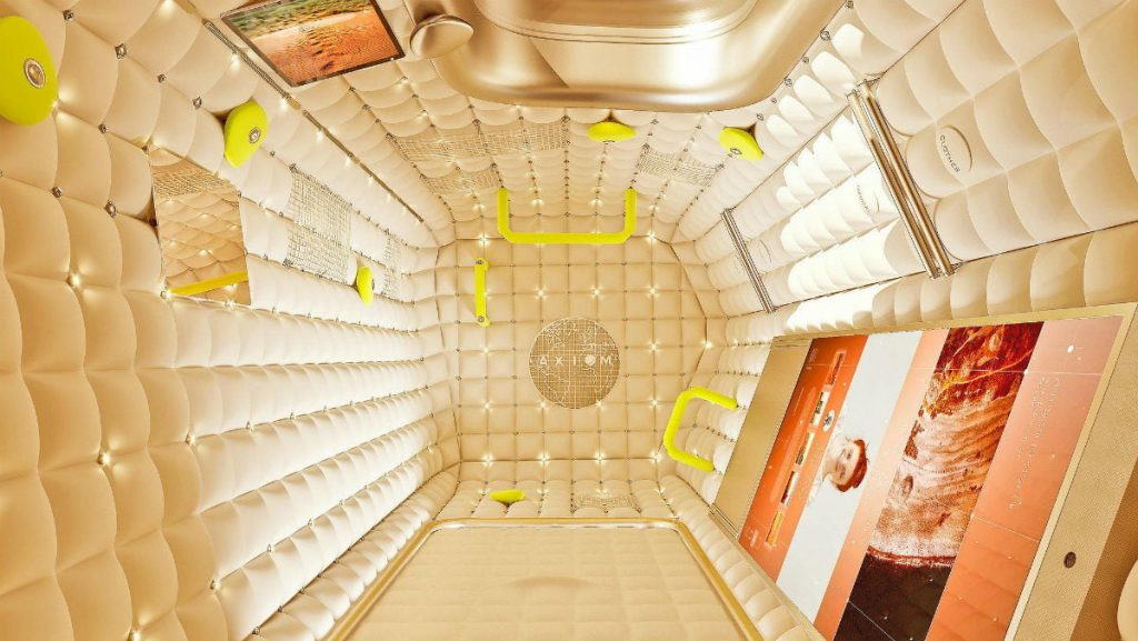 Interior of Axiom Space's Space Station is designed by French designer Philippe Starck. Credit: Axiom Space